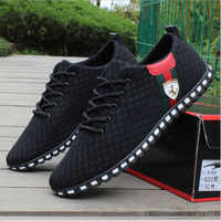 Men Casual Shoes zapatillas mujer New Arrival Breathable Mesh Flats Shoes Men Loafers Slip On Mens Driving Shoes Trainers