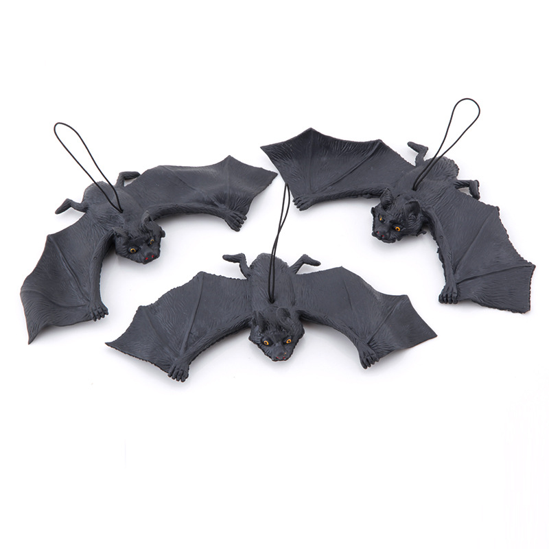 H152f9f507abf4cdeb60bc21a94363796h - Halloween Simulation Animals Bats Trick Toy Halloween Decoration Horror House Bat Hanging Props Home Wall Window Decor