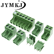 10sets KF2EDG 2EDG 5.08mm plug + socket 2P 3P 4P 5P 6P 7P 8P KF15EDG5.08 Screw Terminal Block