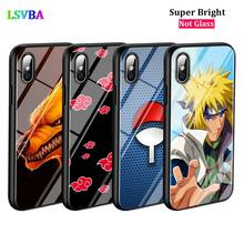 Black Cover Anime Naruto for iPhone X XR XS Max for iPhone 8 7 6 6S Plus 5S 5 SE Super Bright Glossy Phone Case black cover dragon ball goku for iphone x xr xs max for iphone 8 7 6 6s plus 5s 5 se super bright glossy phone case