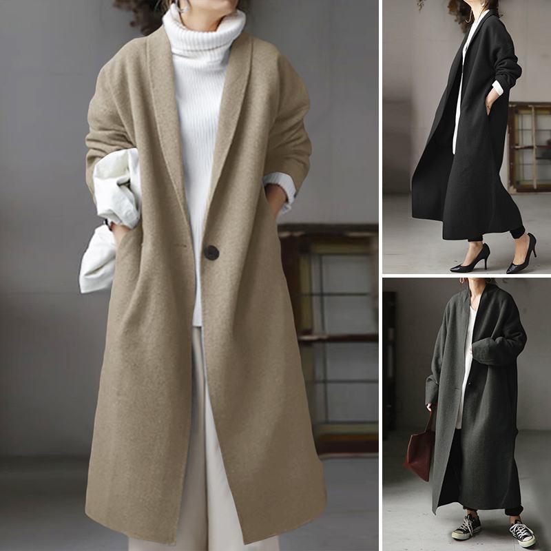 Женское пальто 2021 модная женская верхняя одежда с отложным