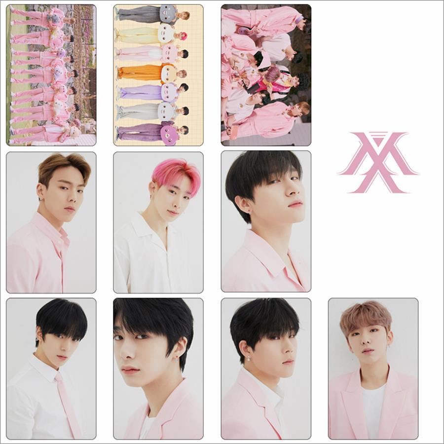 10pcs Monsta X Photocard Sticker TWOTUCKGOM Photo Stikcy Card Crystal Card Sticker I M Min Hyuk Photograph