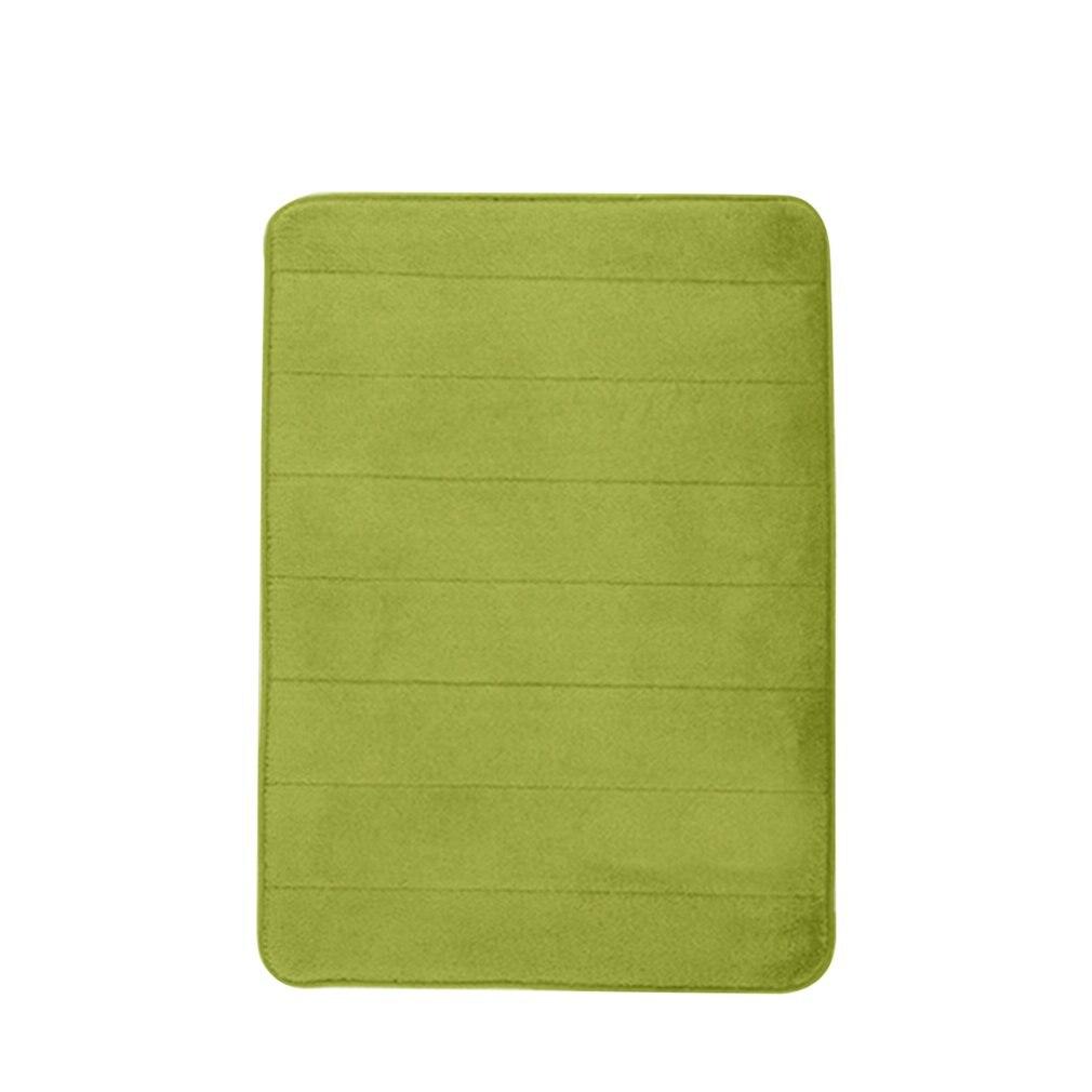 Memory Foam Pad Thick Fleece Slow Rebound Bathroom Kitchen Vertical Striped Carpet Non-slip Soft Doormat