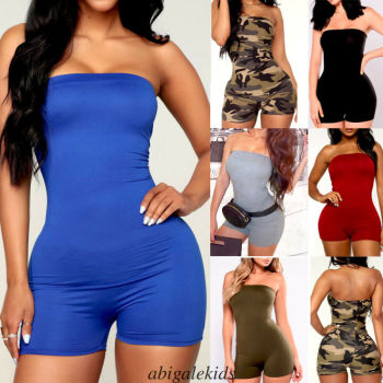 Jumpsuit Women Summer 2020 Romper Female Sexy Clubwear Playsuit Bodycon Sleeveless Party Romper Trousers Shorts Costume Clothing