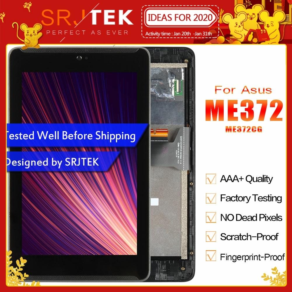 Original For Asus Fonepad 7 ME372CG ME372 K00E LCD Display Matrix Touch Screen Digitizer Assembly With Frame Tablet PC Repair