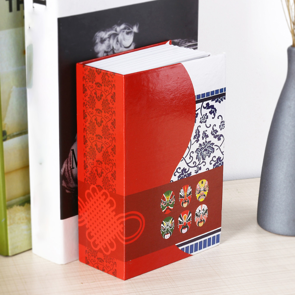 Piggy Bank Password Key Cash Money Security Box Chinese Style Jewelry Storage Dictionary Book Secret Birthday Gift Practical