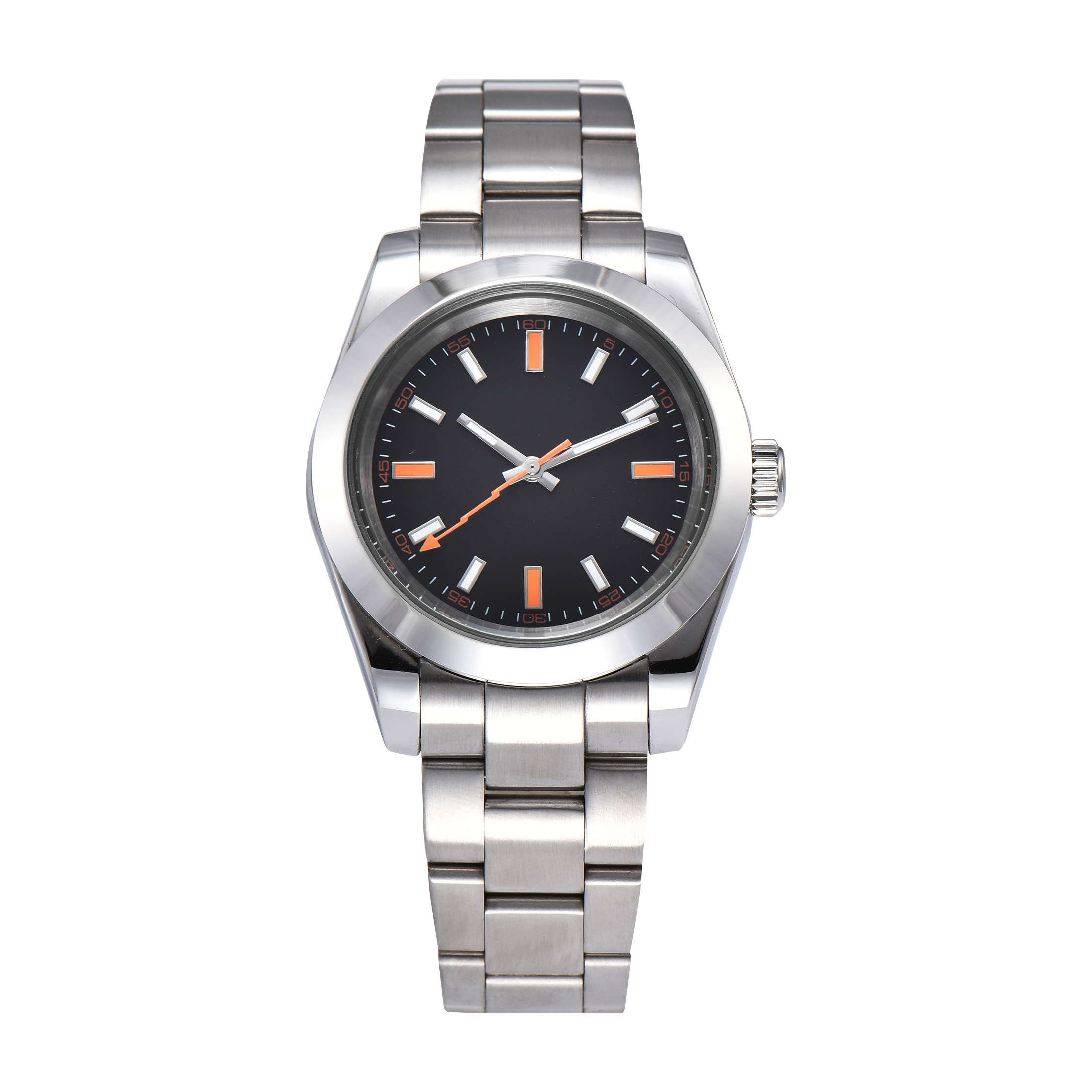 Permalink to watch men automatic mechanical watch Luminous waterproof stainless steel 40MM LLS83