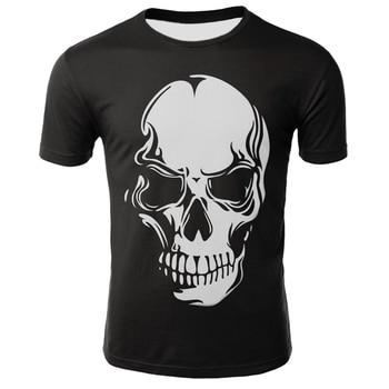 2019 new skull 3D printing T-shirt men's women's t-shirt punk style t-shirt skull t-shirt gothic t-shirt colorful skull t-shirt t audel