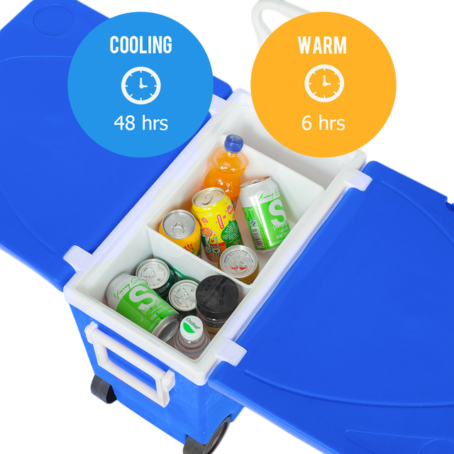 Outdoor Picnic Foldable Multi-function Rolling Cooler Stool  3