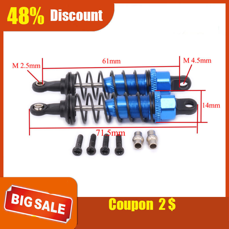 2PCS Aluminum Oil Filled Style Front Shock Absorber Damper For Rc Hobby Model Car 1-12 <font><b>Wltoys</b></font> <font><b>12428</b></font> 12423 Truck Monster Truck image