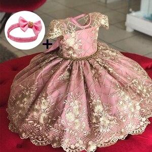 Одежда для маленьких девочек 12 месяцев, вечерние платья на день рождения для девочек 2 лет, платье на крестины для маленьких девочек, детское...