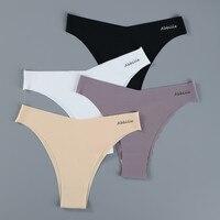 3PCS/Set Women Seamless Lingerie Female Thongs Sexy Underwear Woman Invisible Low-Rise Underpant Women's Panties Bikini Briefs 1