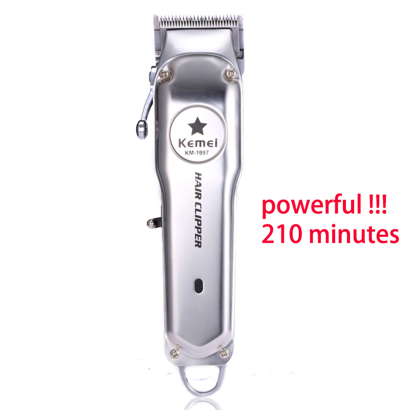 Kemei KM-1997 All-metal Professional Hair Clipper Electric Cordless Hair Trimmer For Men Hair Cutter Hair Cutting Machine Barber