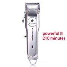 Kemei KM 1997 tondeuse à cheveux électrique sans fil, rasoir professionnel en métal pour faire des coupes de cheveux pour hommes
