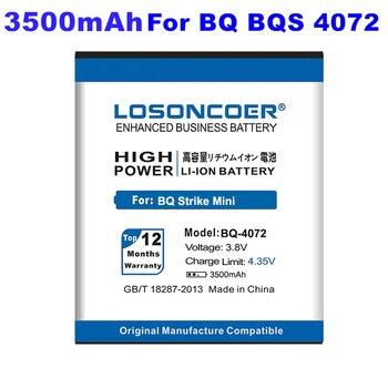 Batería LOSONCOER 3500mAh para BQ-4072 para BQ 4072 BQS 4072 BQS-4072 Strike Mini batería de alta capacidad