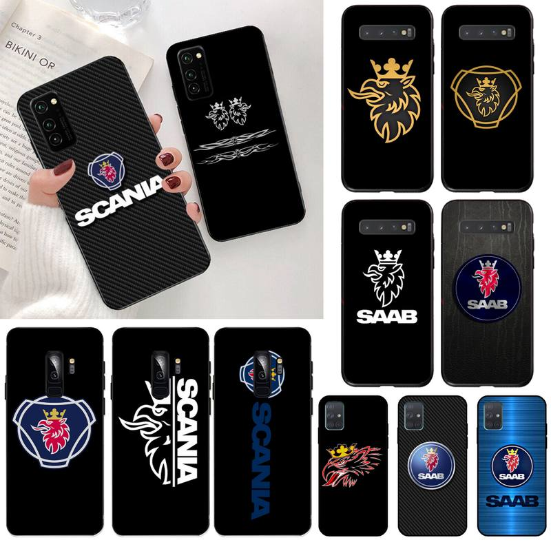 CUTEWANAN Luxury car brand Scania Soft <font><b>Silicone</b></font> Black Phone <font><b>Case</b></font> for <font><b>Samsung</b></font> S20 plus Ultra S6 <font><b>S7</b></font> <font><b>edge</b></font> S8 S9 plus S10 5G image
