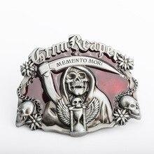 Skull Buckle Luxury Punk Rock Designer Men Cinturones de alta calidad