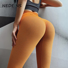 Nedeins 2020 cintura alta leggings de fitness feminino esportes push up sexy leggings magros respirável moda sem costura legging
