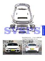 Kit de cuerpo de alta calidad de perla negra para Volkswagen Scirocco R estilo parachoques trasero delantero 2009-2014 año