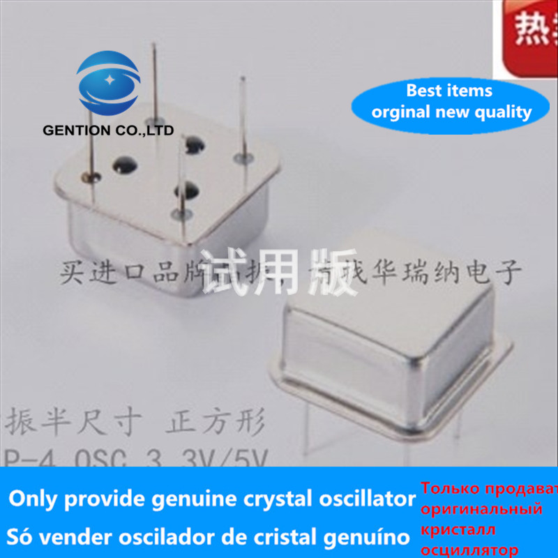 5pcs 100% New And Orginal In-line Active Crystal Oscillator OSC Square Half-size Clock Oscillator DIP-4 3.579545MHZ 3.579MHZ