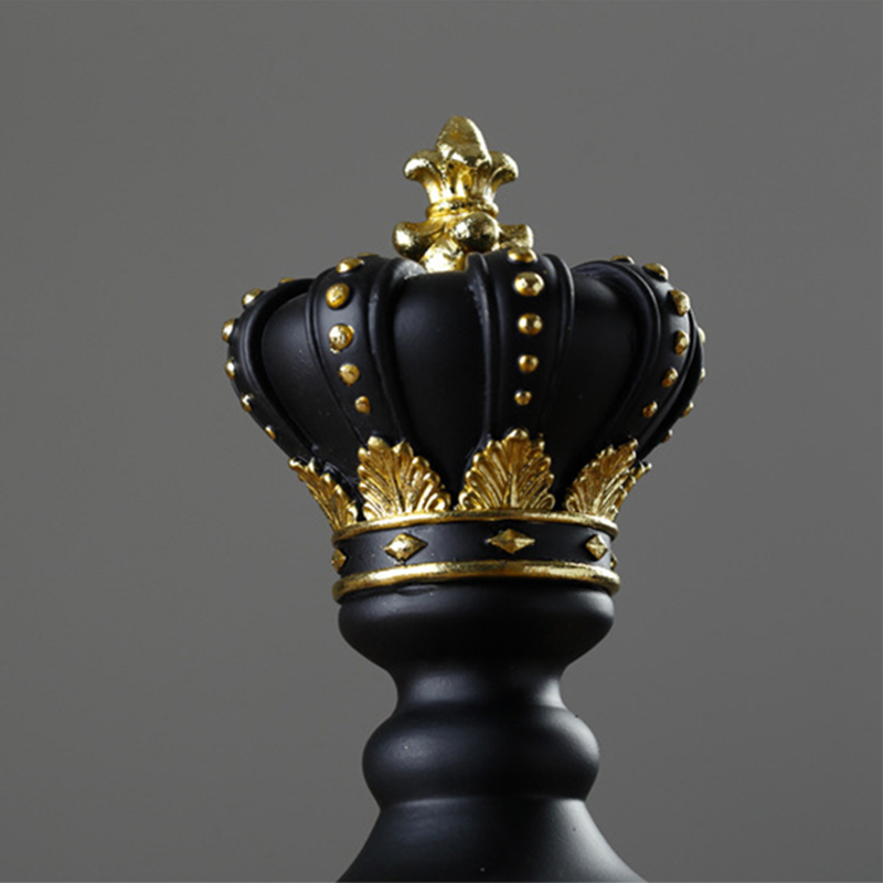 1Pcs Resin Chess Pieces Board Games Accessories International Chess Figurines Retro Home Decor Simple Modern Chessmen Ornaments-5