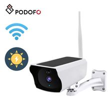 PODOFO 1080P Solar Power Wifi Wireless HD IP Camera IP66 Waterproof Security Surveillance Network Camera Home