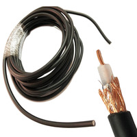 RG58 50 3 RG 58 RG58 Fios do cabo RF cabo coaxial 50ohm 5m 10m 20m 30m 50m Conectores     -