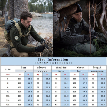 Tactical Hunting Apparel for Men  Solid Thermal Winter Jacket  Military Jacket  Hunting Clothes Soft Breathable Hooded Coat 5