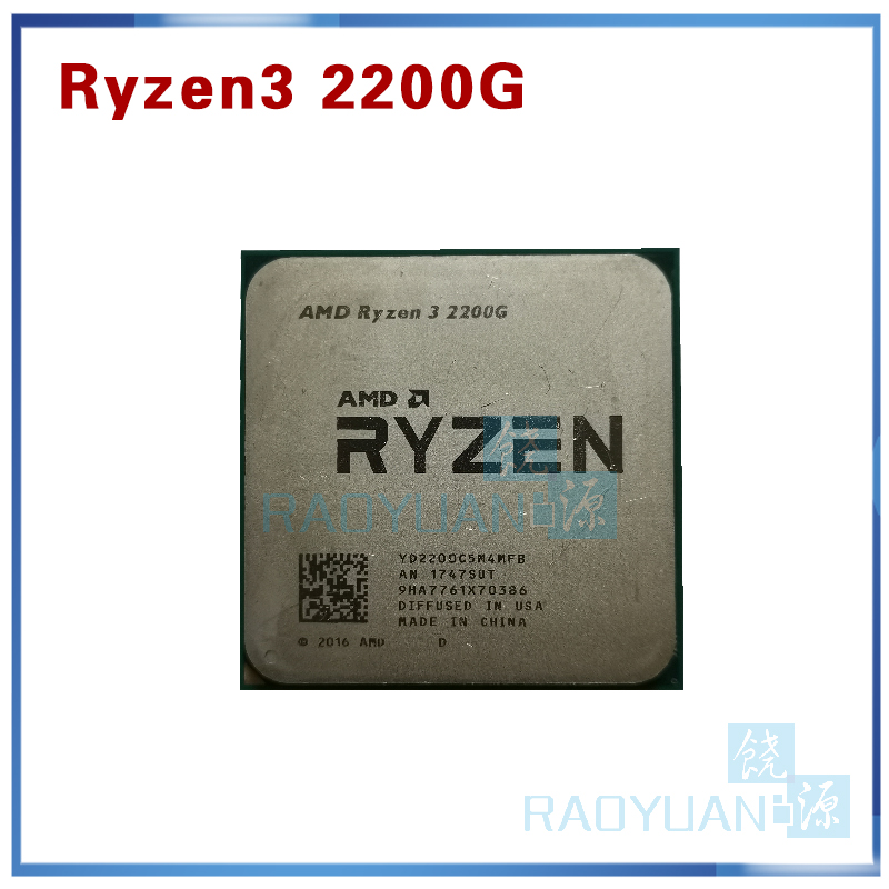 AMD <font><b>Ryzen</b></font> <font><b>3</b></font> <font><b>2200G</b></font> R3 <font><b>2200G</b></font> <font><b>3.5</b></font> <font><b>GHz</b></font> Quad-Core Quad-Thread CPU Processor YD2200C5M4MFB Socket AM4 image