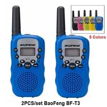 """2 шт./компл. Baofeng BF-T3 UHF462-467MHz 22 канала детей Портативный двухстороннее радио приемопередатчик для детей иди и болтай Walkie Talkie """"иди и Рождественский подарок"""