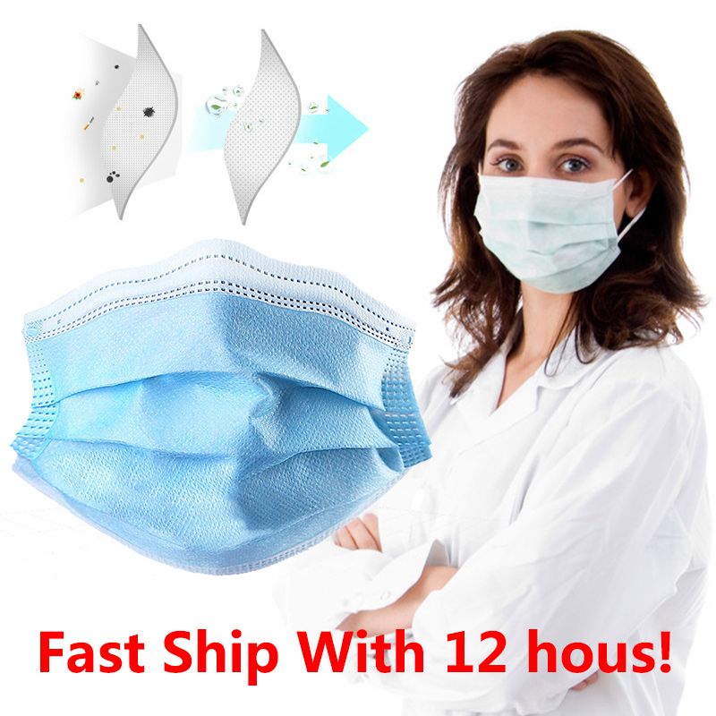 3 Layers Safety Mask Respirator Anti-Dust Anti-Fog Disposable Printing Earloop Face Mouth Masks Covid 19 Kids Mondkapjes Pm2.5