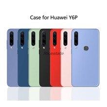 Huawei y6p matte caso huawei y6 prime 2020 cores doces de silicone tpu macio à prova de choque caso do telefone para huawei y6p y6 p 2020