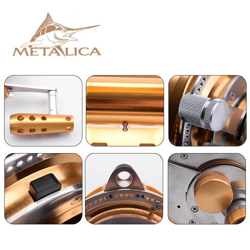 Металлические Троллинг-колеса 30W-II/50W-II/80W-II 8 + 1BB, барабанные катушки, литые большие модели, полностью металлические, глубоководная железная лодка, Рыболовная катушка 4