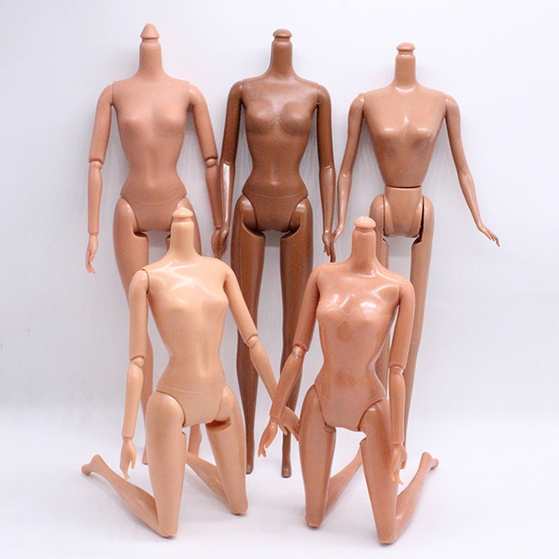 New 5/11 Movable Joints 30cm African Doll Nude Body Brown Black Skin Doll Body Black Skin Children's Pretty Girl Toy Gift