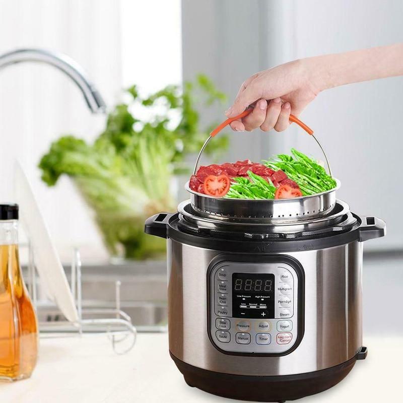 Stainless Steel Steamer Basket Vegetable Drain Basket Pressure Cooker Home Kitchen Tool E2S