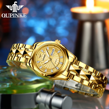 OUPINKE Luxury Gold Mechanical Watch For Women Sapphire Crystal Automatic Watch Ladies Wristwatches Waterproofrelogio feminino 4