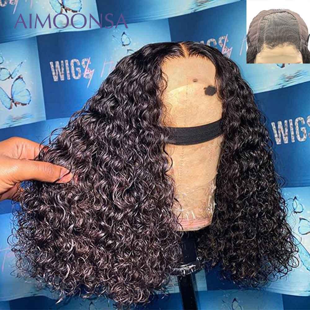 Lace Closure Wig Curly Bob Wig Lace Front Human Hair Wigs 4x4 Closure Wig Short Hair 250 Density Lace Wig Human Hair Remy