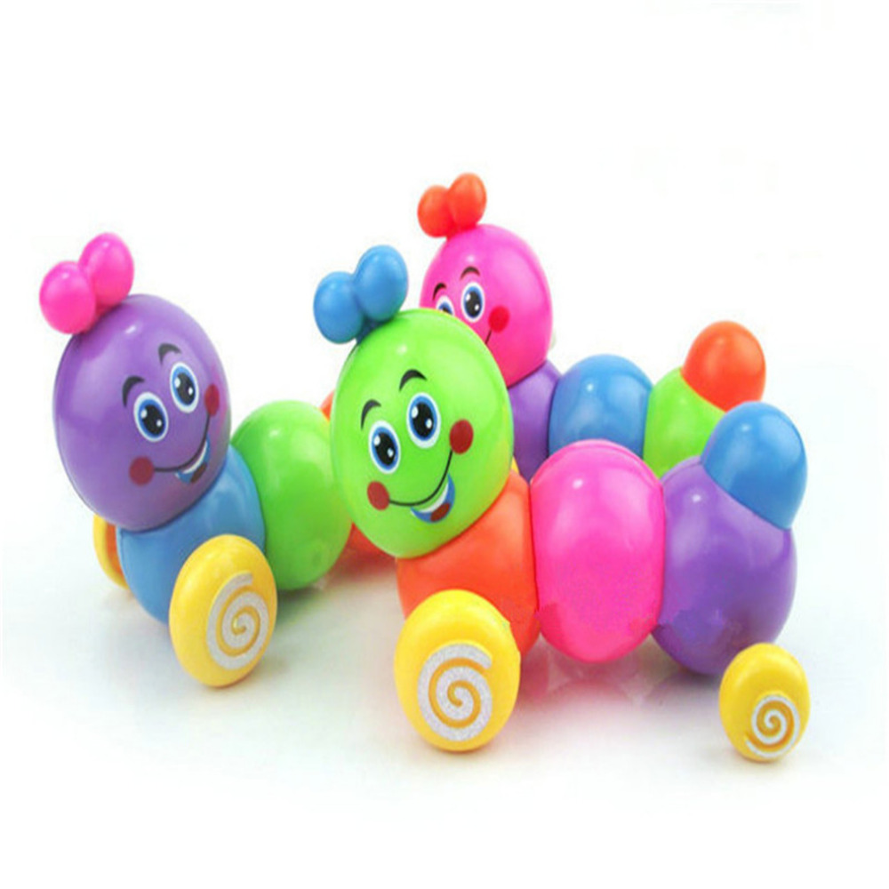 2019 Cute Cartoon Caterpillar Wind Up Toys Running Clockwork Classic Toy Newborn Spring Toy Random Color