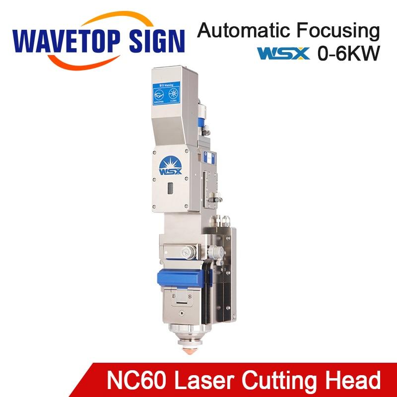 WaveTopSign WSX NC60 0-6kw Automatic Focusing Fiber Laser Cutting Head 6000W High Power QBH For Metal Cutting