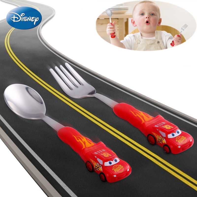 Disney Tableware Children Learn Chopsticks Baby Training Chopsticks Auxiliary Chopsticks Practice Chopsticks Spoon Set