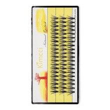 Kimcci 60 Bundles Natural 3D Eyelash Extension Russian Volume Faux Mink Eyelashes Individual 20D Cluster Lashes Makeup Cilia TOP