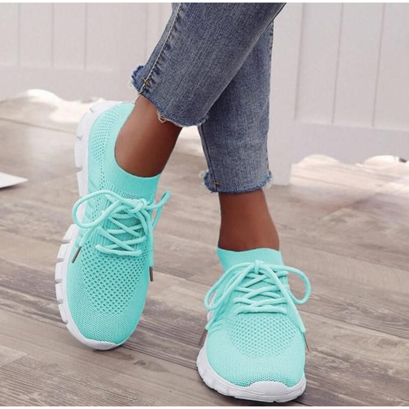 Women Sneakers Slip On Mesh Light Breathable Shoes Woman Walking Platform Comfortable Casual Fashion Female Lace Up Non Slip New 1