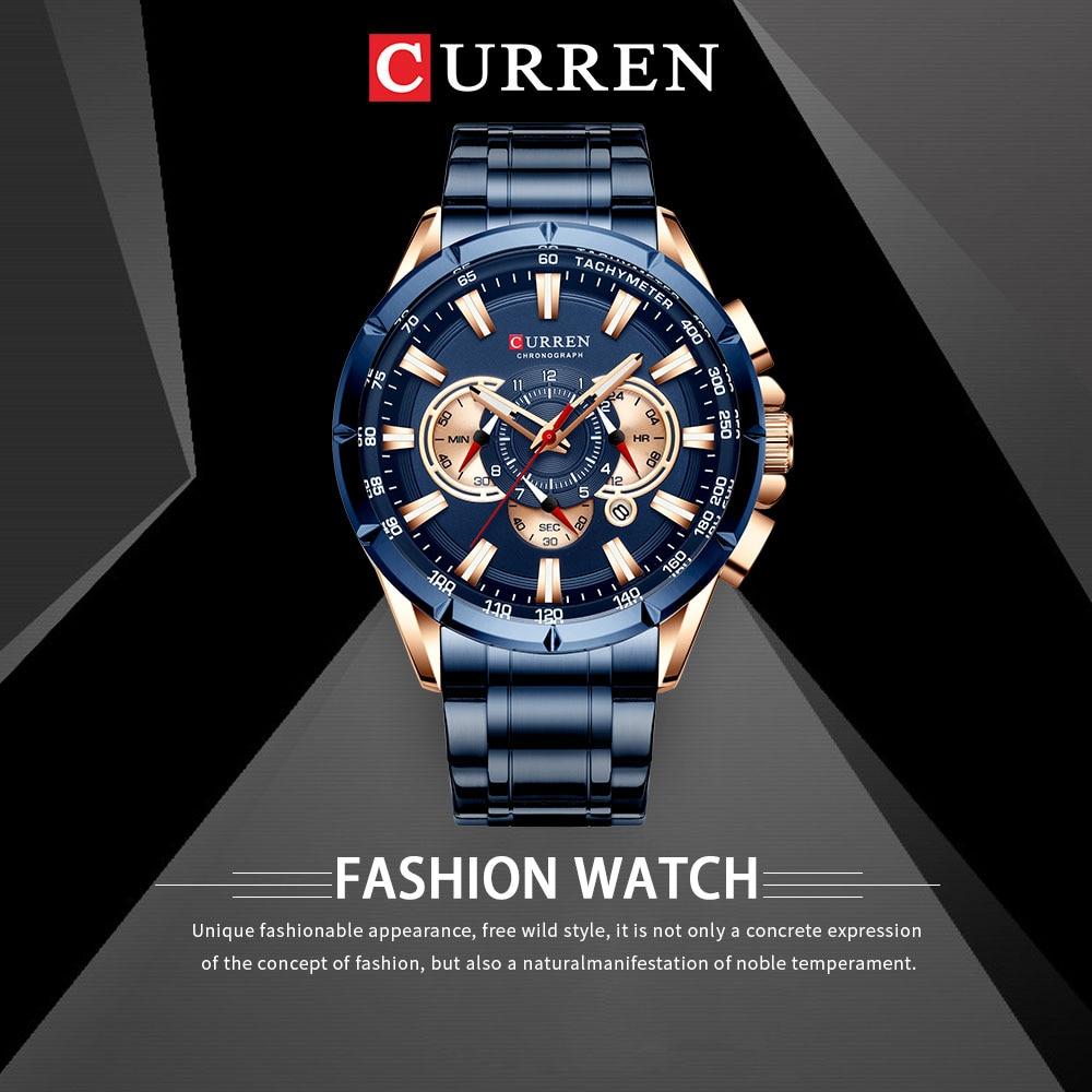 H1532d5f09cd5477eafe7b385106f47adJ CURREN Wrist Watch Men Waterproof Chronograph Military Army Stainless Steel Male Clock Top Brand Luxury Man Sport Watches 8363