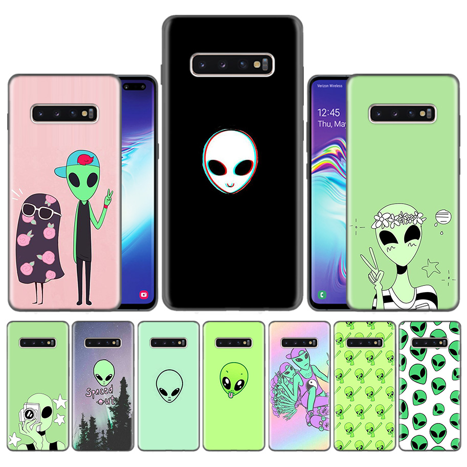 Fundas <font><b>Case</b></font> Casing for <font><b>Samsung</b></font> Galaxy S10 S9 S8 Plus 5G A30 A50 A70 A40 A20 <font><b>Note</b></font> 8 <font><b>9</b></font> 10 Covers Carcass <font><b>Funny</b></font> Drawings Aliens image