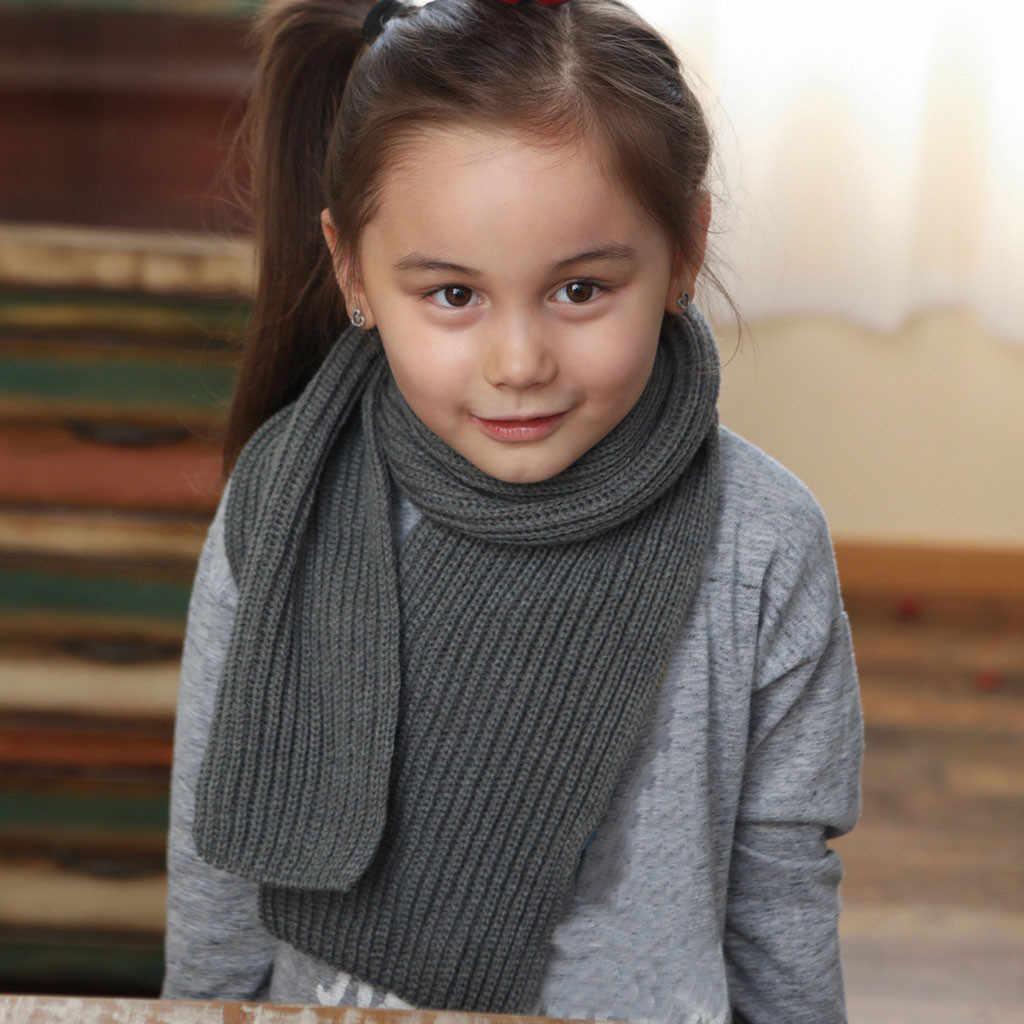 Dễ thương Mùa Đông Cho Bé Cổ Vòng Khăn Bé Gái Bé Trai Len Dệt Kim O-Khăn Choàng Cổ Trẻ Em Màu Ấm Snood