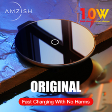 amzish 10W Fast QI Wireless Charger For iPhone 8 Plus X XS Max XR 11 Pro Wireless Charging Pad Fast Charger For Samsung S10 S9