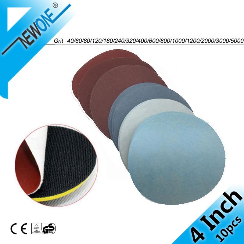 10pcs 4inch 100mm Round Sandpaper Disk Sand Sheets Grit #40 - #7000 Hook And Loop Sanding Disc For Sander Grits Ultrasaw Disc