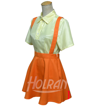 Tonari no Totoro Cosplay Costume Satsuki Kusakabe Cos shirt Braces skirt Suit uniform Sets
