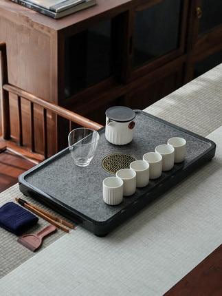 Juego de té de cerámica de estilo japonés, tetera de oficina en casa, tazas de té de cerámica de mar Kung Fu té negro Da Hong Pao Oolong Teaware