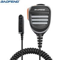 De Baofeng impermeable micrófono altavoz para BaoFeng UV-9RPlus UV-XR A-58 GT-3WP impermeable Walkie Talkie jamón dos vías de Radio